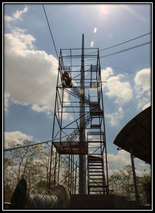 INSTALLATION OF STEEL FLAT FORM ZIPLINE II (1)