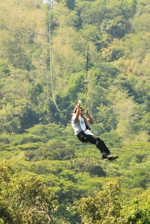 OPENING OF 1.4 KM. CABLE ZIPLINE (2)