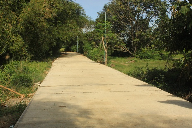 Concreting of Farm to Market Road at Brgy. Rajal (2)