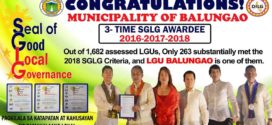 Municipality of Balungao  3-Time SGLG Awardee