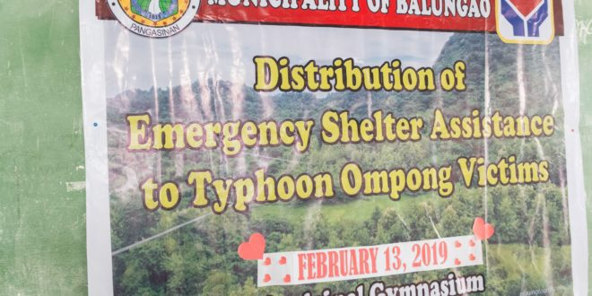Distribution of Emergency Shelter Assistance