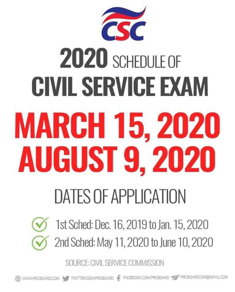 Civil Service Exam Schedule 2020 Balungao Pangasinan Philippines