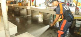 Flushing and Disinfection of Balungao Public Market