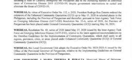 EXECUTIVE ORDER NO. 34, Series of 2020
