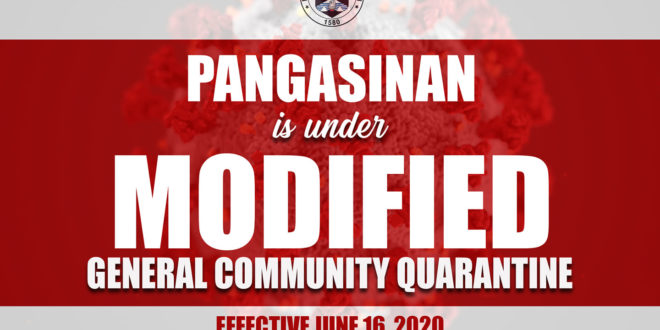 IMPLEMENTING GUIDELINES ON THE (MGCQ) IN THE PROVINCE OF PANGASINAN