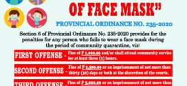 MANDATORY WEARING OF FACE MASK Provincial Ordinance No. 235-2020