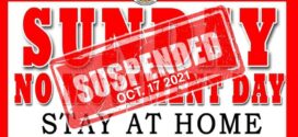 NO MOVEMENT DAY SUSPENDED (October 17, 2021)